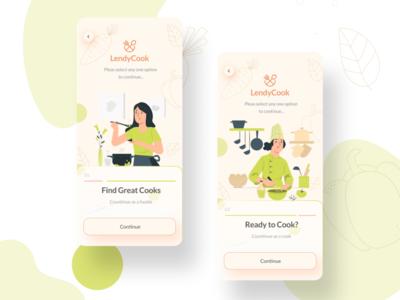 LendyCook app mobile cooking mobile app design ui design app 2020