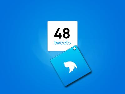 Tweet Count Freebie tweeter tweet count counter idea free psd freebie