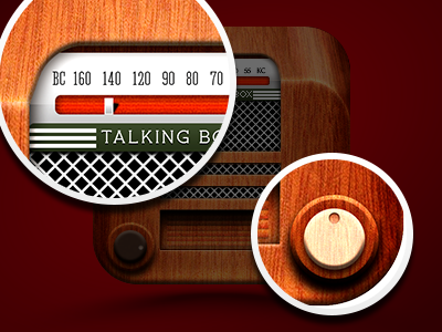 Radio icon closeups