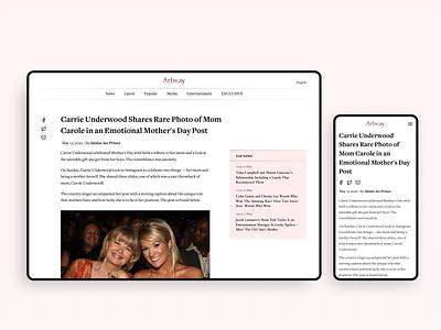 Media Design media website desktop mobile web clean ux ui