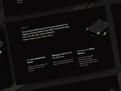 Luxury Website Robotics vector web landing page dark clean branding illustration desktop ux ui