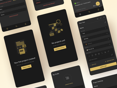 Mobile Project Management Tool project management app clean vector illustration flat mobile application ux ui