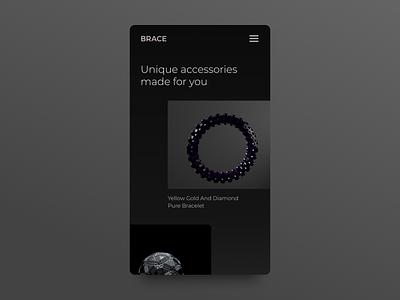 3D accessories store cgi graphics design 3d artist c4d graphics 3d mobile web ux ui