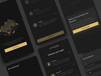 Enterprise Mobile App dark mode premium luxury branding illustration mobile clean application ux ui