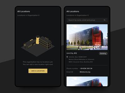 Enterprise Mobile Application premium luxury dark mode vector illustration mobile clean application ux ui