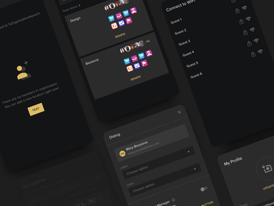 Mobile Application android ios ux ui app luxury mobile dark mode application clean