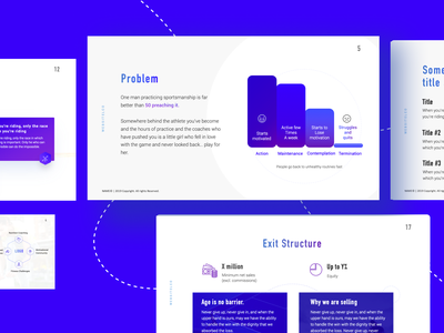 Presentation Pitch deck blue presentation layout presentation design pitch deck slideshare slideshow slides presentation slide deck landing flat clean desktop design ux web ui