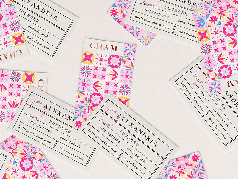 Cham Businesscards business card pattern design branding