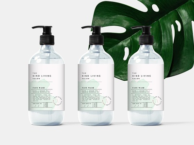 Packaging for The Kind Living Salon