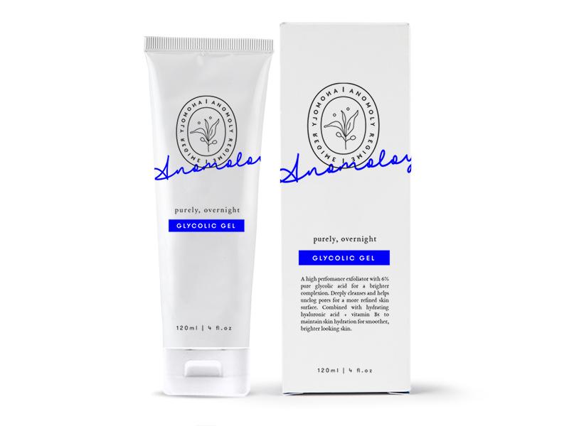 Glycolic Gel branding packaging design packaging mockupmonday