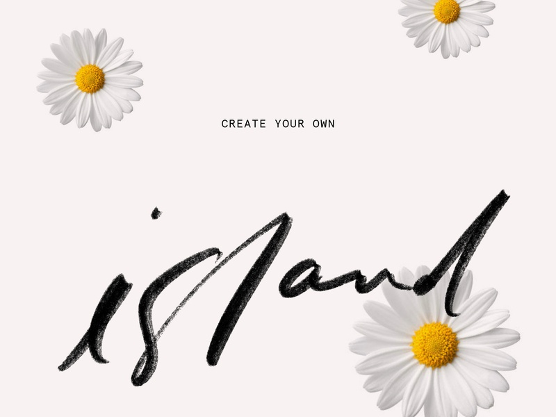 Hand-written Social Content lettering content creation floral typography procreate