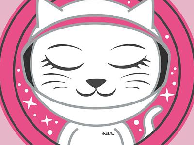 Debut Shot: Astro Cat cats pink space astronaut vector animal animal astro cat debut