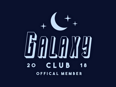 Galaxy Club stars branding logo design design outer space official out of this world school club club galaxy