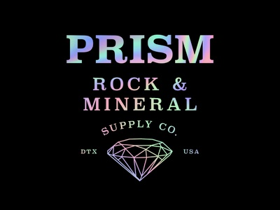 Prism Rock Supply dallas diamond prism rocks branding logo