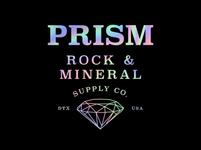 Prism Rock Supply dallas diamond prism rocks branding logo