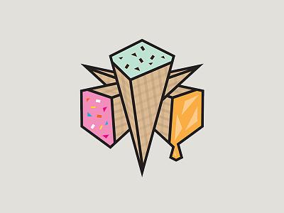 Evilcone Brand Icon logo dessert evil icon branding ice cream