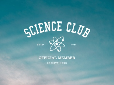 Science Club badge branding school member logo club science