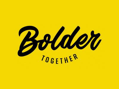 Bolder Together Logo conference black yellow together logo branding