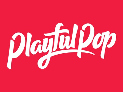 Playful Pop Logo handlettering