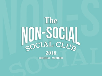 Non-Social Social Club branding vintage vintage logo teal side project community logo club