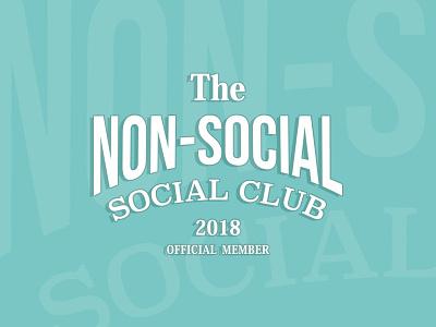 Non-Social Social Club branding vintage vintage logo teal side project community logo club