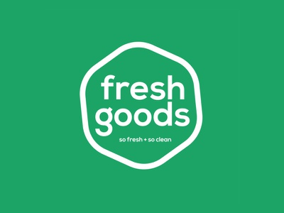 Fresh Goods Logo green logo design branding logo design grocerystore grocery good best freelance logotype fresh