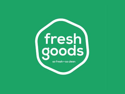 Fresh Goods Logo green logo design branding logo design grocerystore grocery good best freelance logotype fresh
