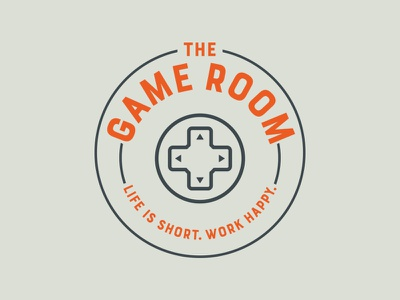 Game Room Logo logo design design orange circle game logo gamer branding logo sign game room