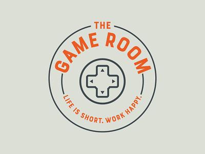 Game Room Logo logo design design orange circle game logo gamer branding logo sign game room