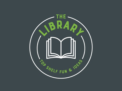 Library Logo Sign graphic design branding sign books logo library