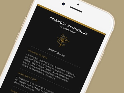 Friendly Reminders App gratitude branding app design visual design design app
