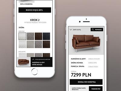 Configurator furniture configurator appdesign app interface ux ui