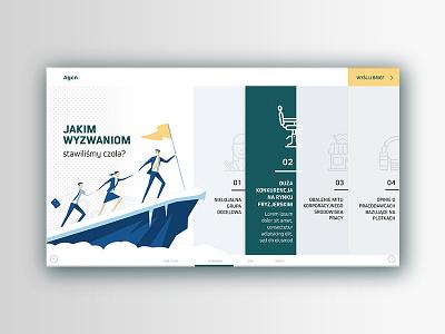 Landing Page portfolio agency horizontal navigation illustration landing page ux ui