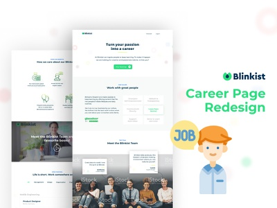 Career Page redesign ux ui web design web career page