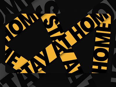 "Freebie! ""Stay at Home"" Desktop Wallpaper @ Type.lol freebies freebie covid-19 covid type art type typography"