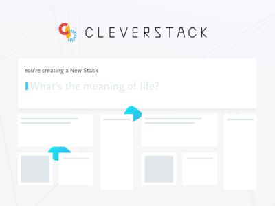 Cleverstack | New Stack Prompt cursor text input aften screen interface web ux ui