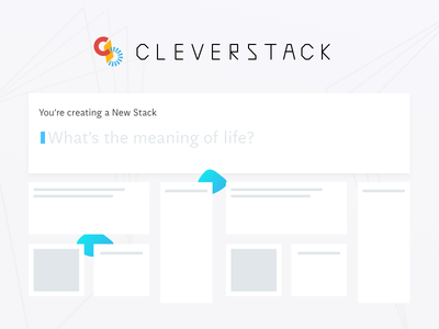 Cleverstack   New Stack Prompt cursor text input aften screen interface web ux ui