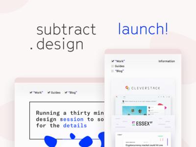 My new site! subtract.design svg portfolio work ui ux brand design personal web site