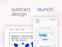 My new site! subtract.design
