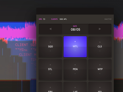 Time Tracker Concept ui ux web interface time tracking music mpc ipad mobile