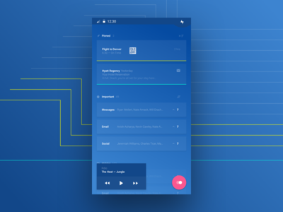 Notifications App sketch interactions notifications android mobile interface ux ui
