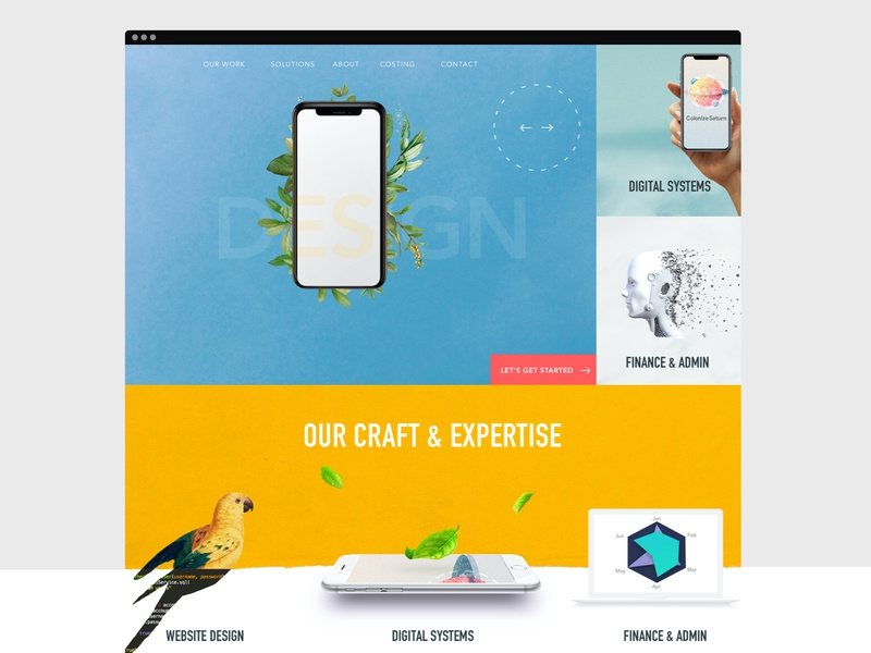 Design Agency Website ux ui web website creative colour design branding