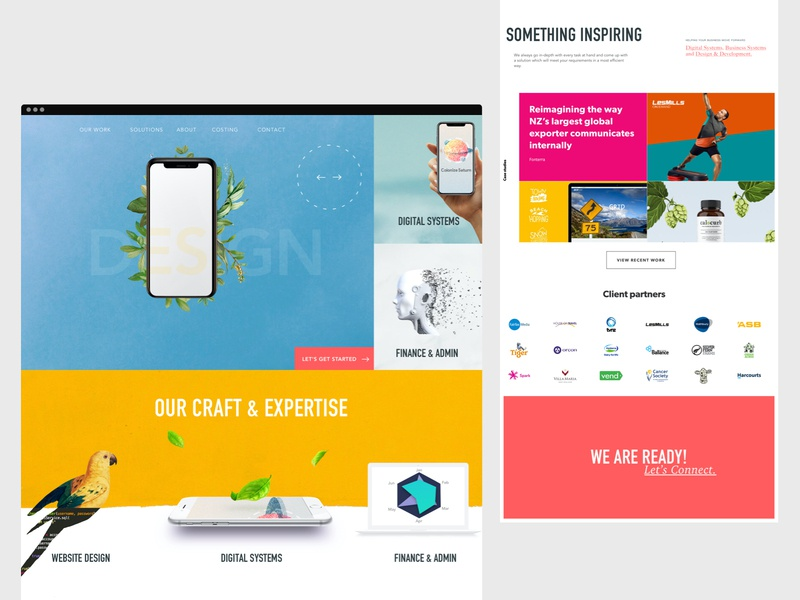 Colourful Design Agency Website - Full Page agency ux creative colour ui website web design illustration branding