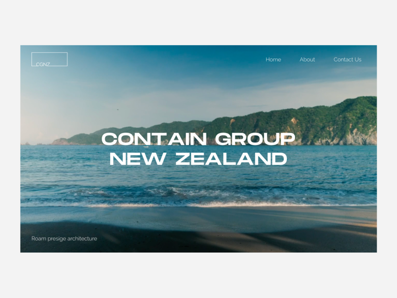Contain Group New Zealand - Architecture Website ui ux architect architecture website icon typography creative web design branding