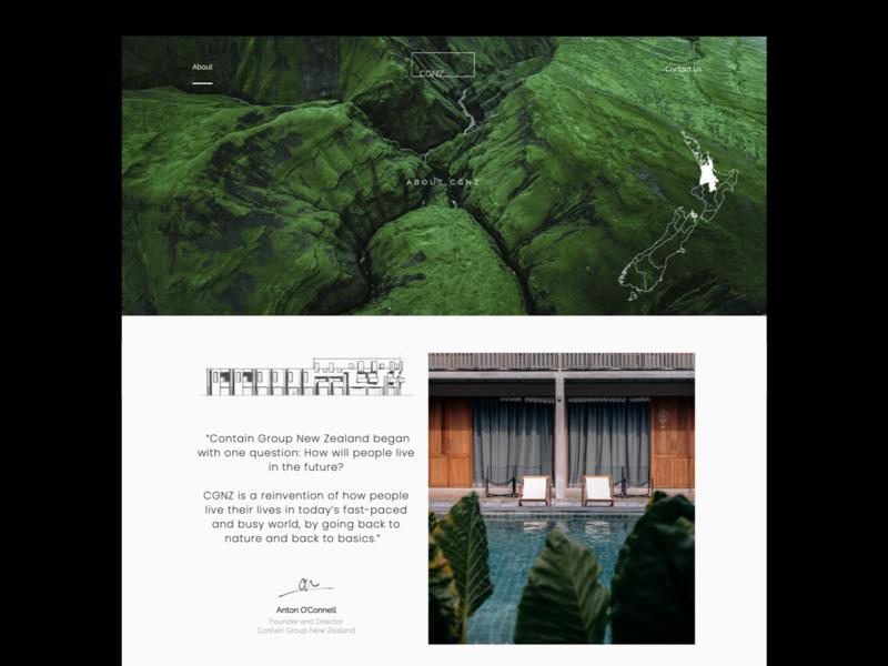 About Us - Architect Website about us clean architecture architect colour minimal agency ui creative ux web website design branding