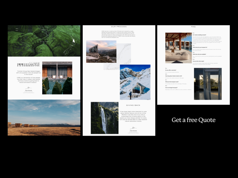 Minimal About Us Page architect architecture agency creative ux ui web website design branding