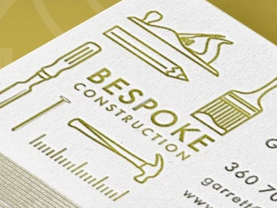 Bespoke Construction Business Cards