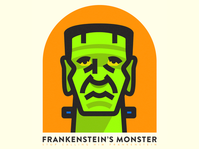Frakenstein's Monster illustration halloween