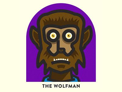The Wolfman design illustration halloween
