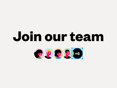 Join our team 👨‍👩‍👧‍👦 team designers illustrations job careers join us we are hiring